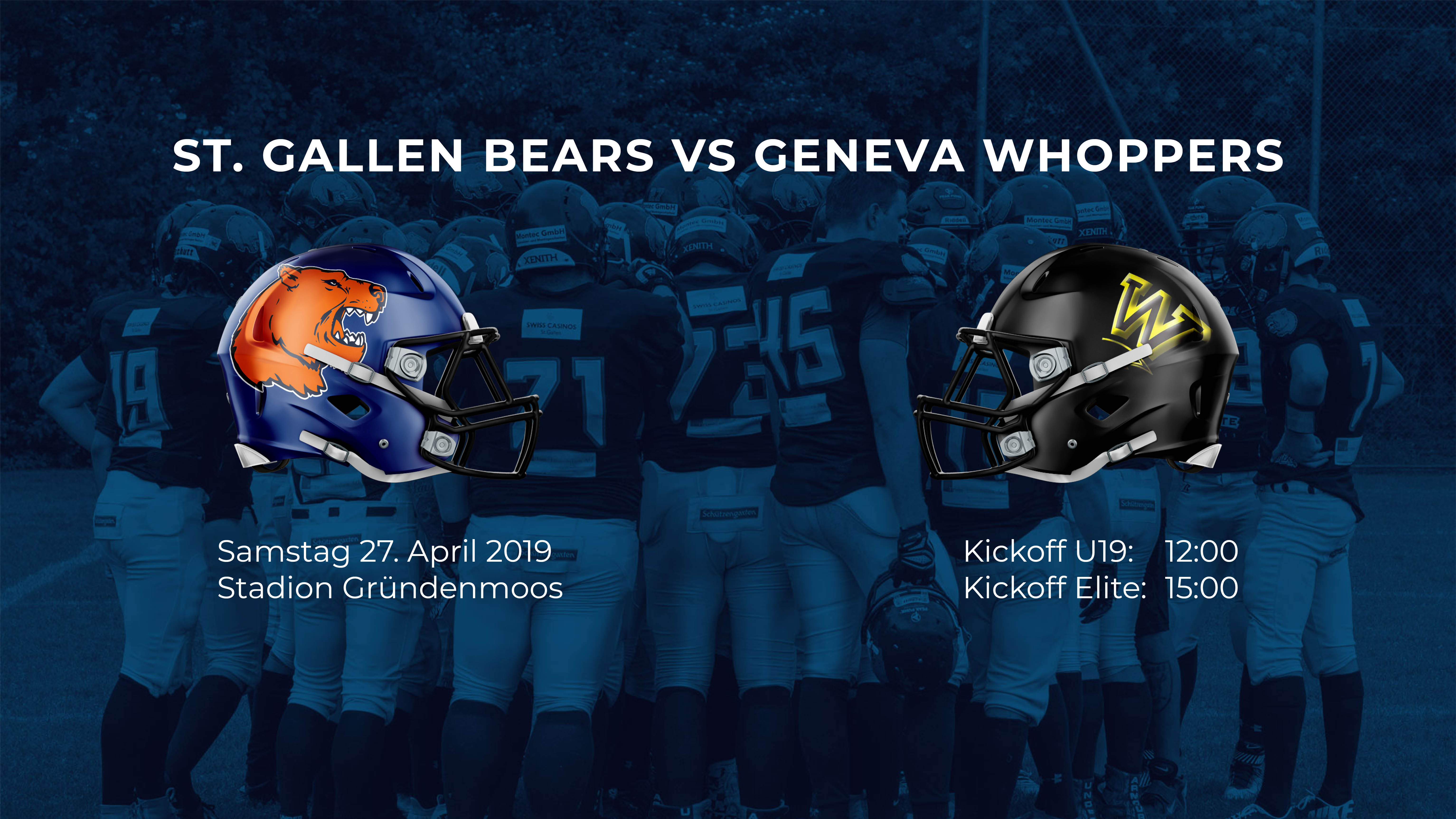 St. Gallen Bears Vs Geneva Whopers